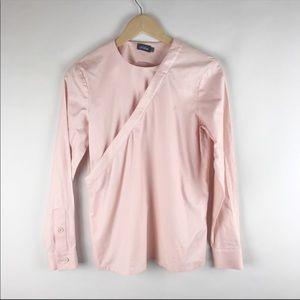 Kate Spade Saturday Blush Pink Wrap Top
